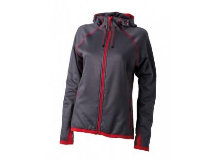JN570 Ladies Hooded Fleece